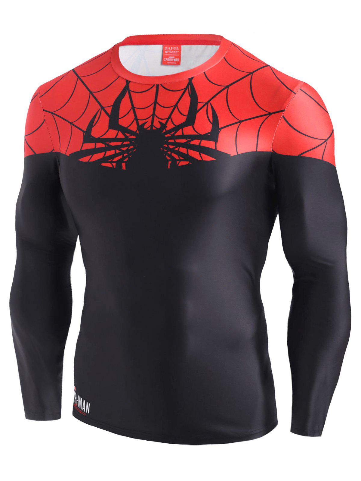 T-shirt Marvel Spider-Man en Blocs de Couleurs Noir S