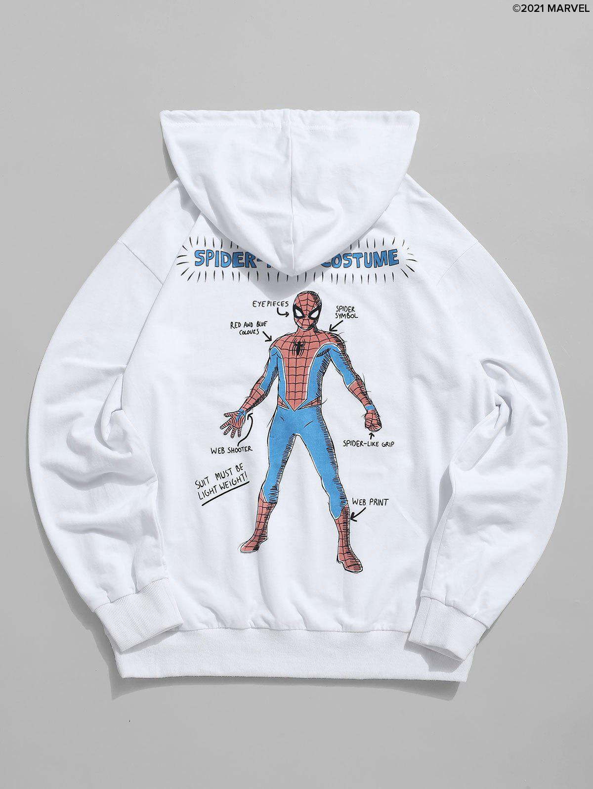 Cheap Marvel Spider-Man Graphic Print Front Pocket Drawstring Hoodie