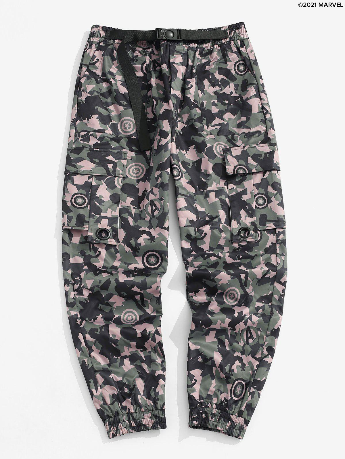 Hot Marvel Spider-Man Camouflage Print Tapered Cargo Pants