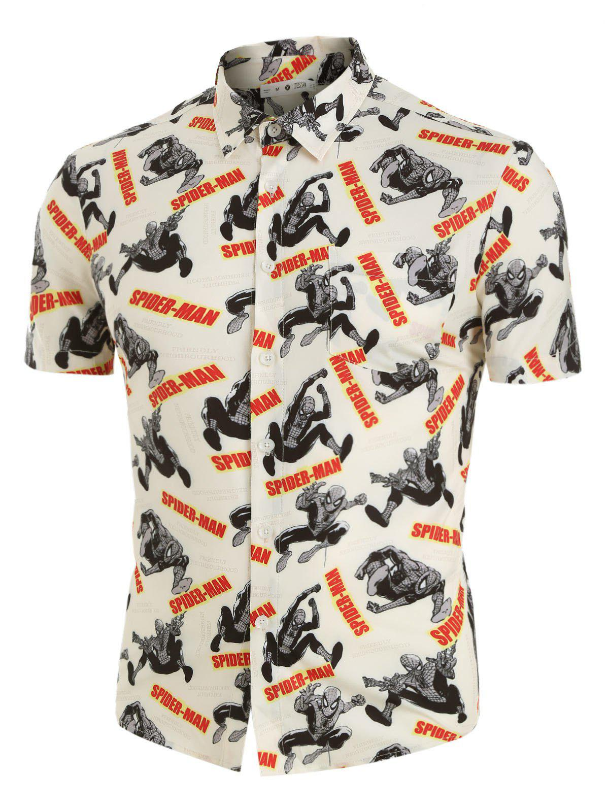 Outfit Marvel Spider-Man Graphic Button Up Shirt