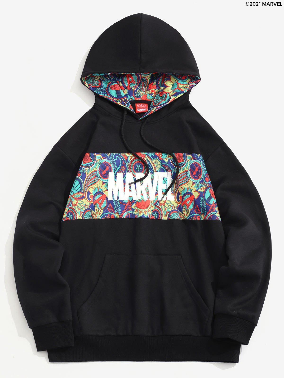 Buy Marvel Spider-Man Paisley Print Kangaroo Pocket Fleece Hoodie