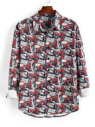 Marvel Spider-Man Button Up Comics Print Shirt -