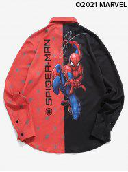 Marvel Spider-Man Contrast Print Long Sleeve Graphic Shirt -