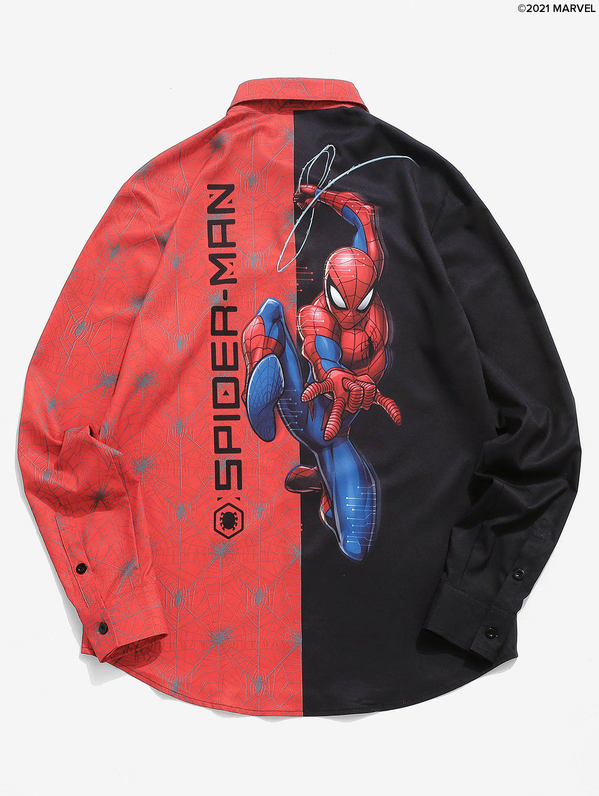 Shop Marvel Spider-Man Contrast Print Long Sleeve Graphic Shirt
