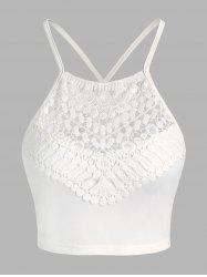 Cropped Lace Panel Cami Top -