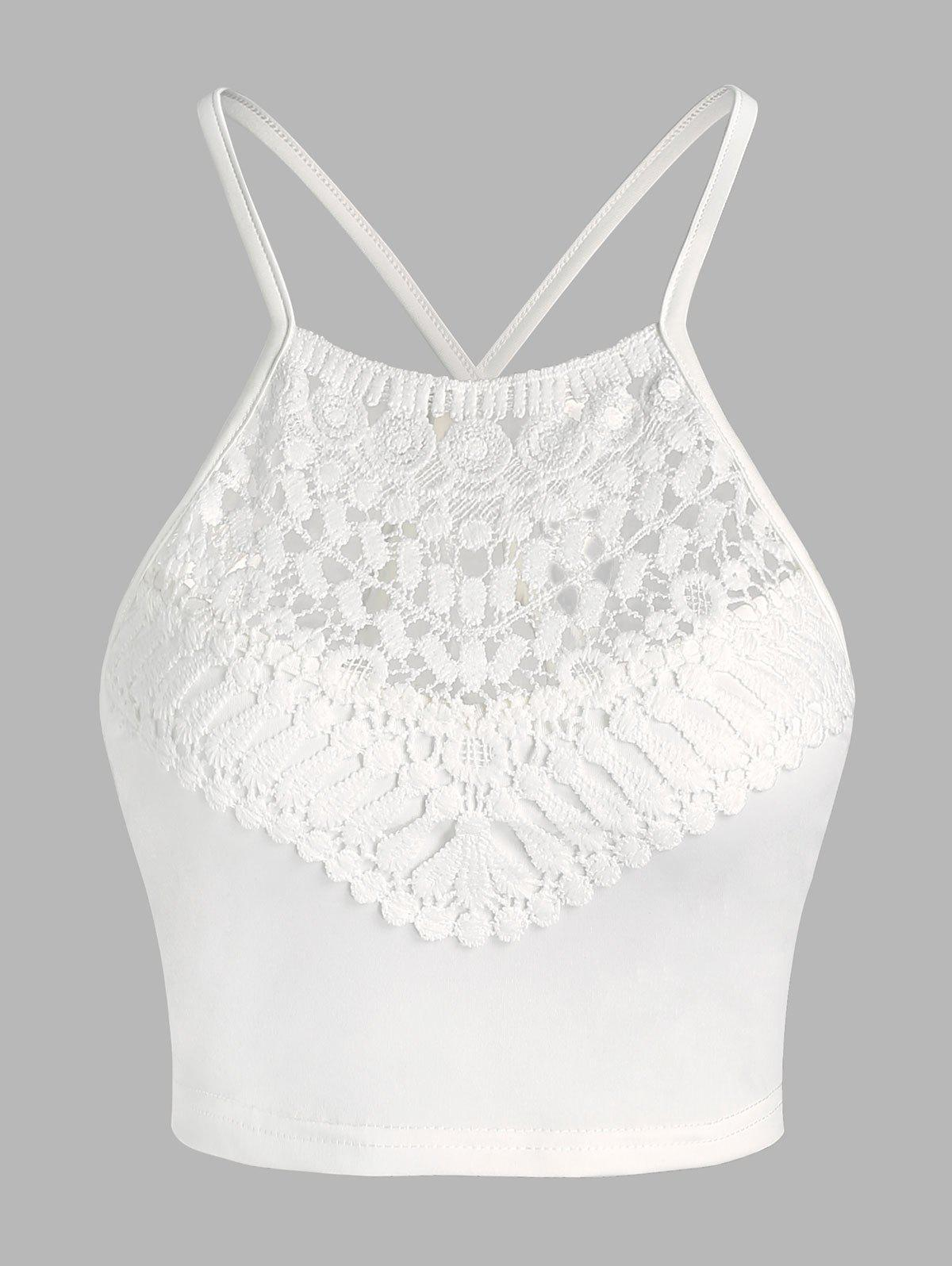 Best Cropped Lace Panel Cami Top