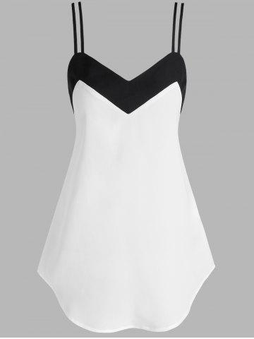 Two Tone Strappy Tank Top