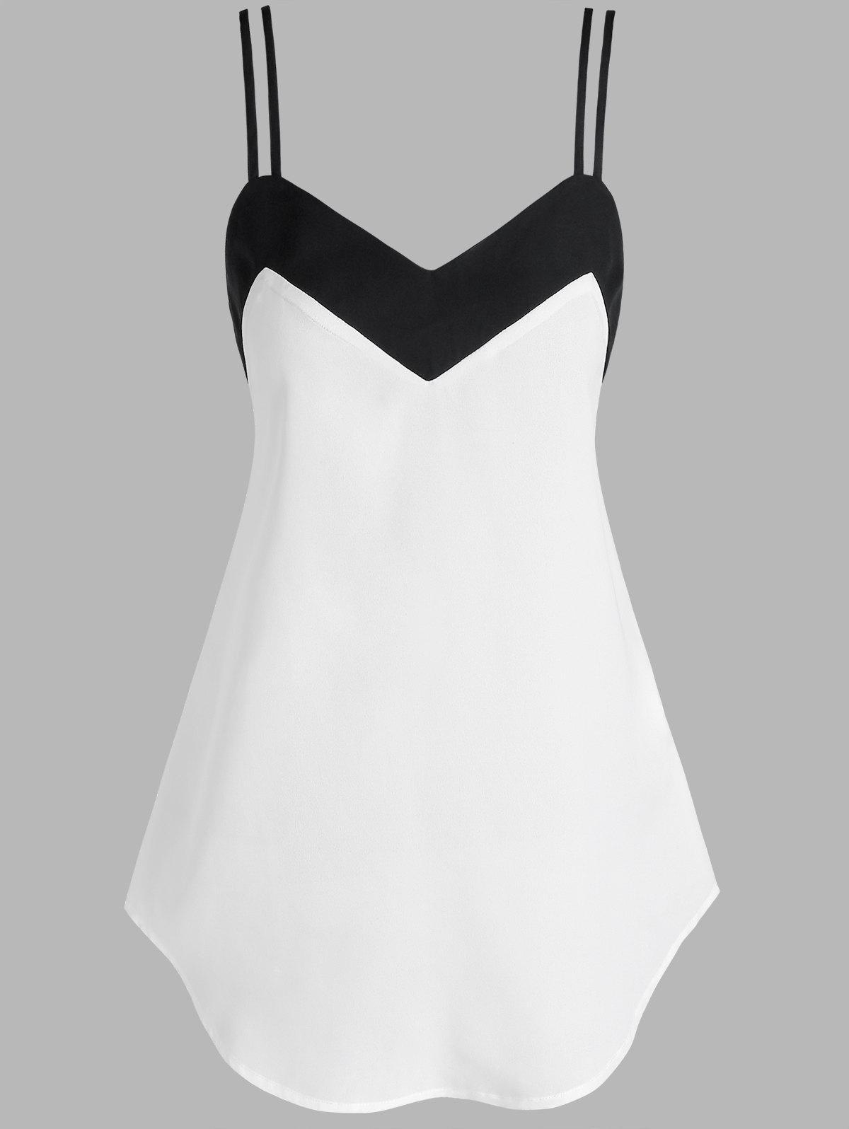 Discount Two Tone Strappy Tank Top