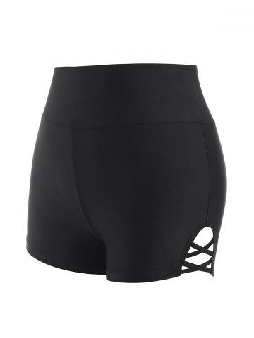 Criss Cross High Rise Boyleg Swim Bottom