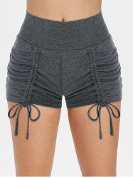 Jersey Cinched Front Hot Shorts -