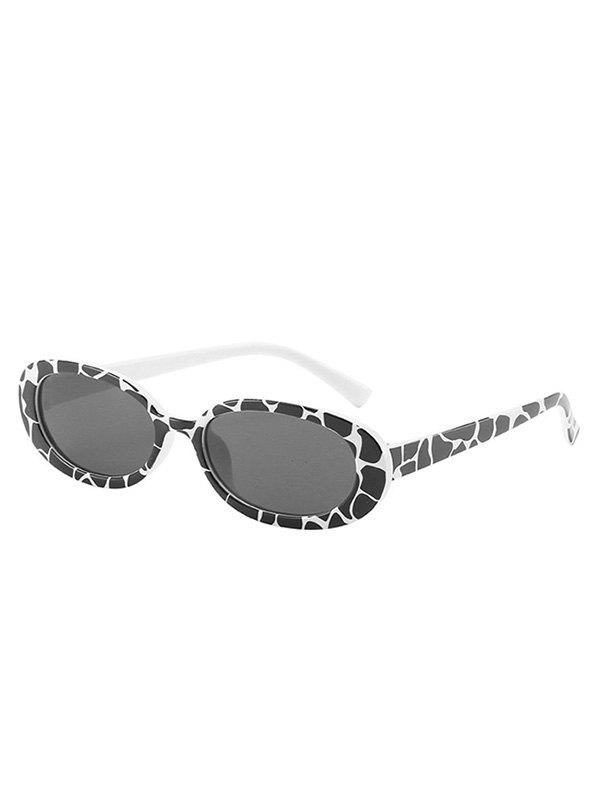 Outfit Cow Print Oval-Frame Sunglasses