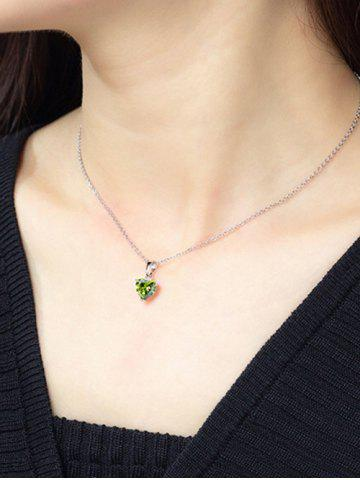 Heart Shaped Zircon Inlaid Necklace