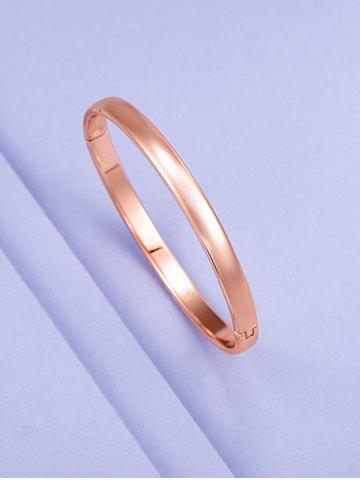Minimalist Rose Gold Plating Solid Bangle