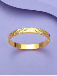 Engraved Floral Matte Gold Plated Bangle -