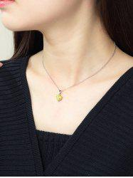 Heart Shaped Zircon Inlaid Necklace -