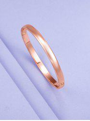 Minimalist Rose Gold Plating Solid Bangle -