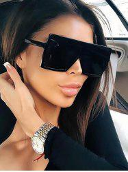 Oversize Flat Top Square Frame Sunglasses -