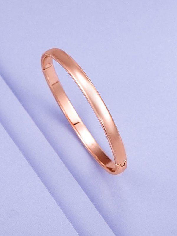 Online Minimalist Rose Gold Plating Solid Bangle
