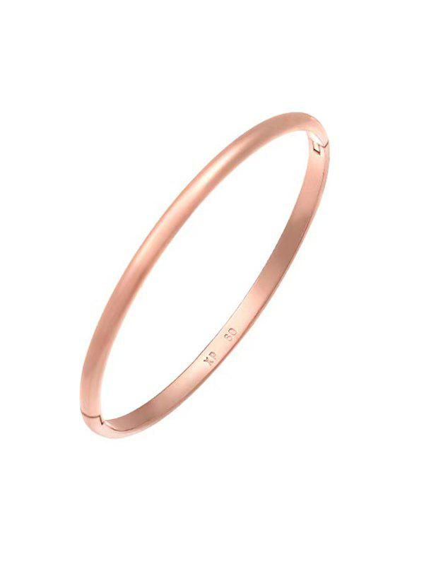 Discount Minimalist Rose Gold Plating Solid Bangle