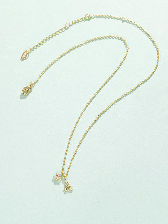 Buy Star Tower Pendant Gold Plated Necklace
