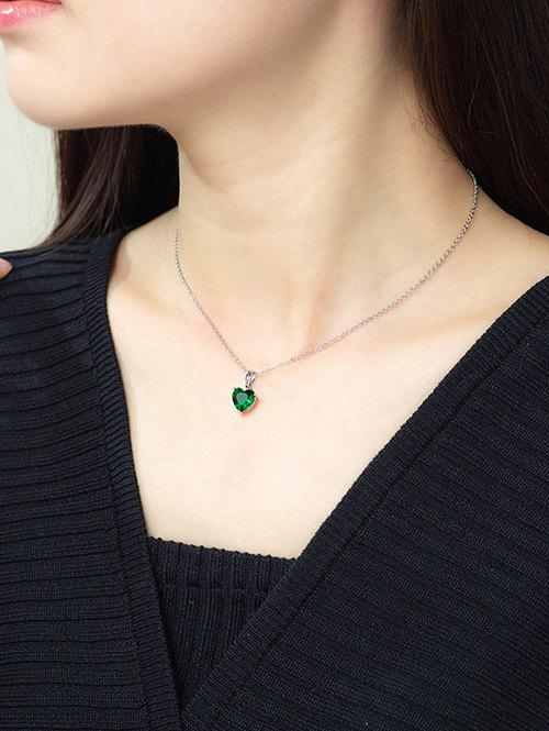 Chic Heart Shaped Zircon Inlaid Necklace