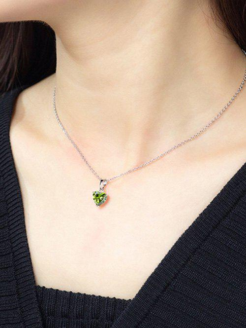 Fancy Heart Shaped Zircon Inlaid Necklace