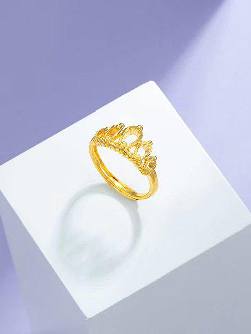 Hot Hollow Crown Adjustable Gold Plating Ring