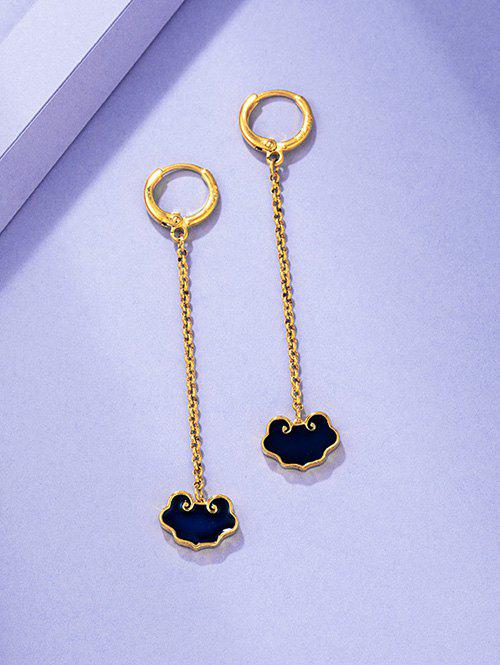New Chinese Style Lock Gold Plated Dangle Earrings