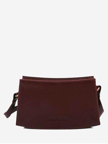 Sac à Bandoulière Rectangle Courbe en Couleur Unie - DEEP BROWN
