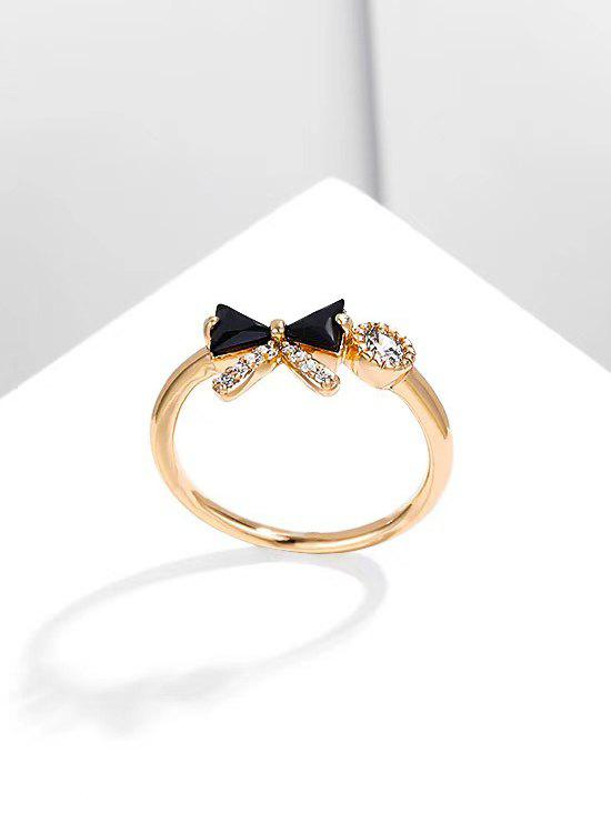 Sale Bowknot Shape Diamante Gold Plated Ring