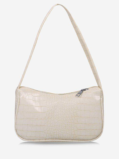 Fashion Solid Embossed Shoulder Bag