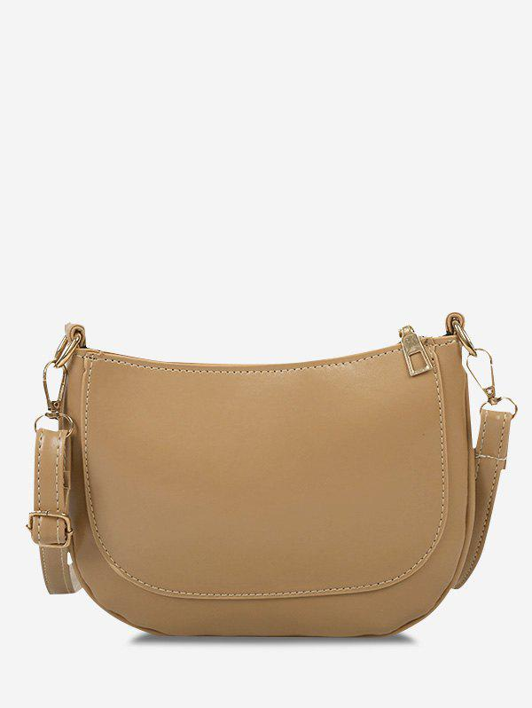 Buy Solid Top-Stitching Crossbody Bag