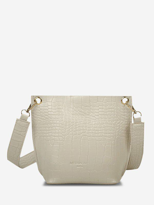 Trendy Square Embossed Crossbody Bucket Bag