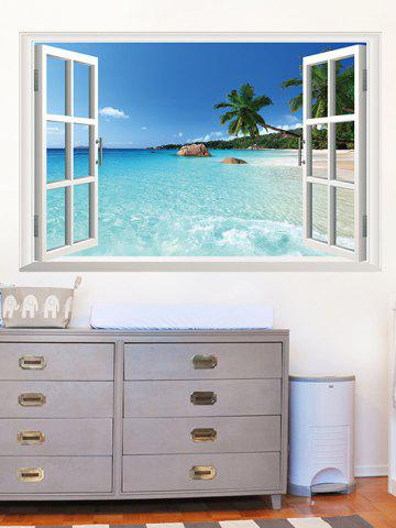 3D Print Window Beach Wall Sticker