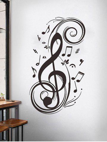 Musical Notes Wall Stickers Set - BLACK - 45X70CM