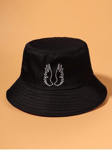 Embroidered Pattern Wing Outdoor Bucket Hat