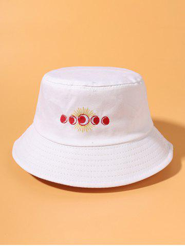Sun And Moon Embroidered Bucket Hat