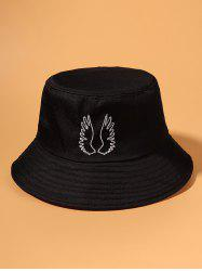 Embroidered Pattern Wing Outdoor Bucket Hat -