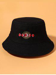 Sun And Moon Embroidery Bucket Hat -