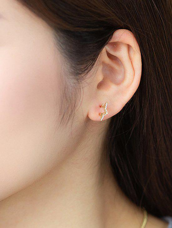 Hot Golden Star Zircon Stud Earrings