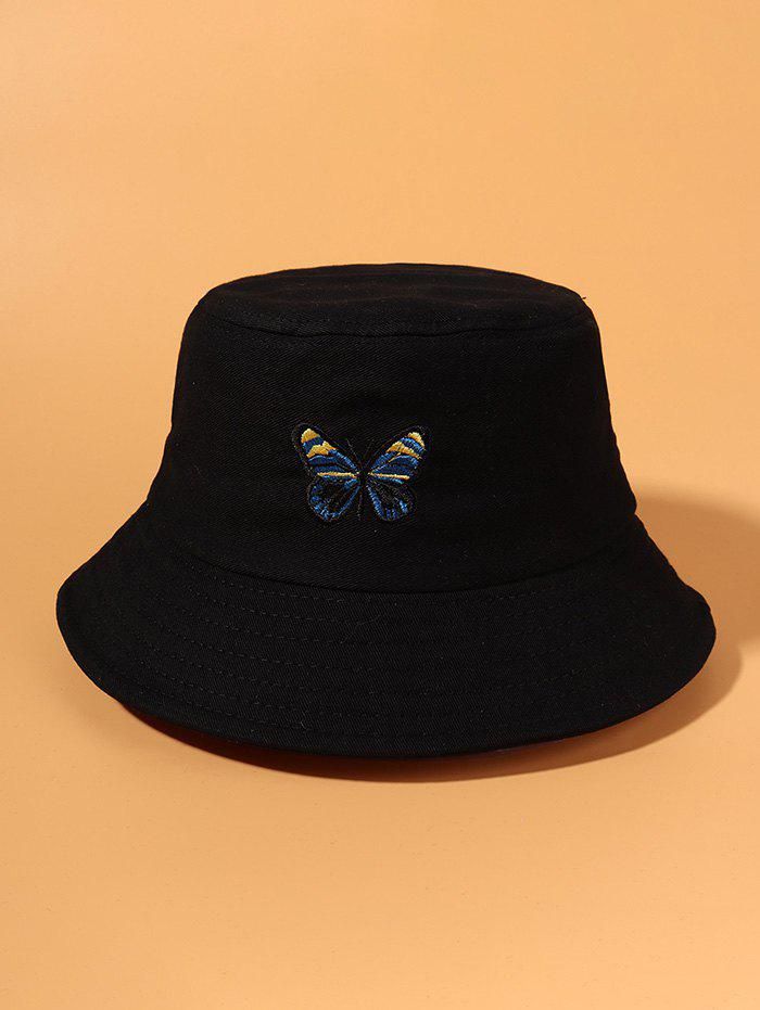 Unique Colored Butterfly Embroidered Bucket Hat