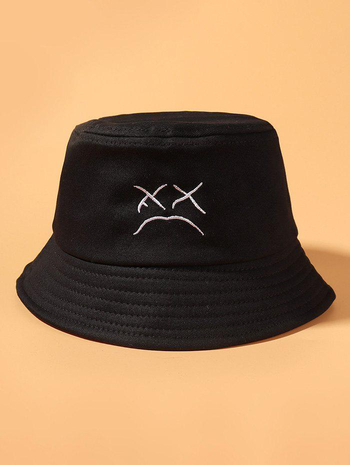 Affordable Embroidered Cried Face Pattern Bucket Hat