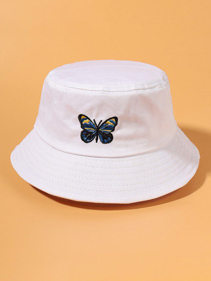 Outfits Butterfly Embroidery Outdoor Bucket Hat