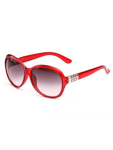 Oversize Round Frame Gradient Sunglasses - RED WINE
