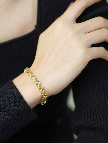 Four-leaf Plated Gold Bracelet