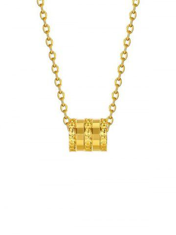 Small Waist Plated Gold Necklace
