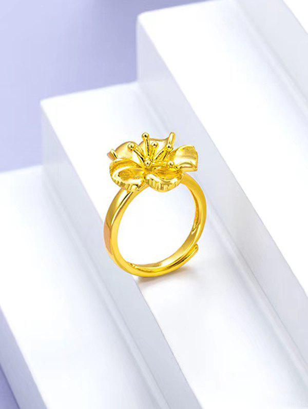 Outfit Flower Pattern Finger Ring