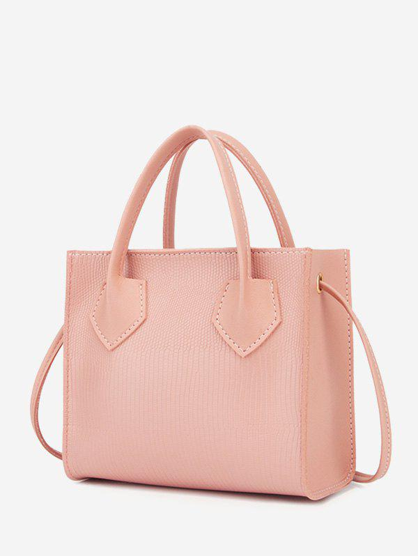 Sale Boxy Embossed Dual-Handle Tote Bag