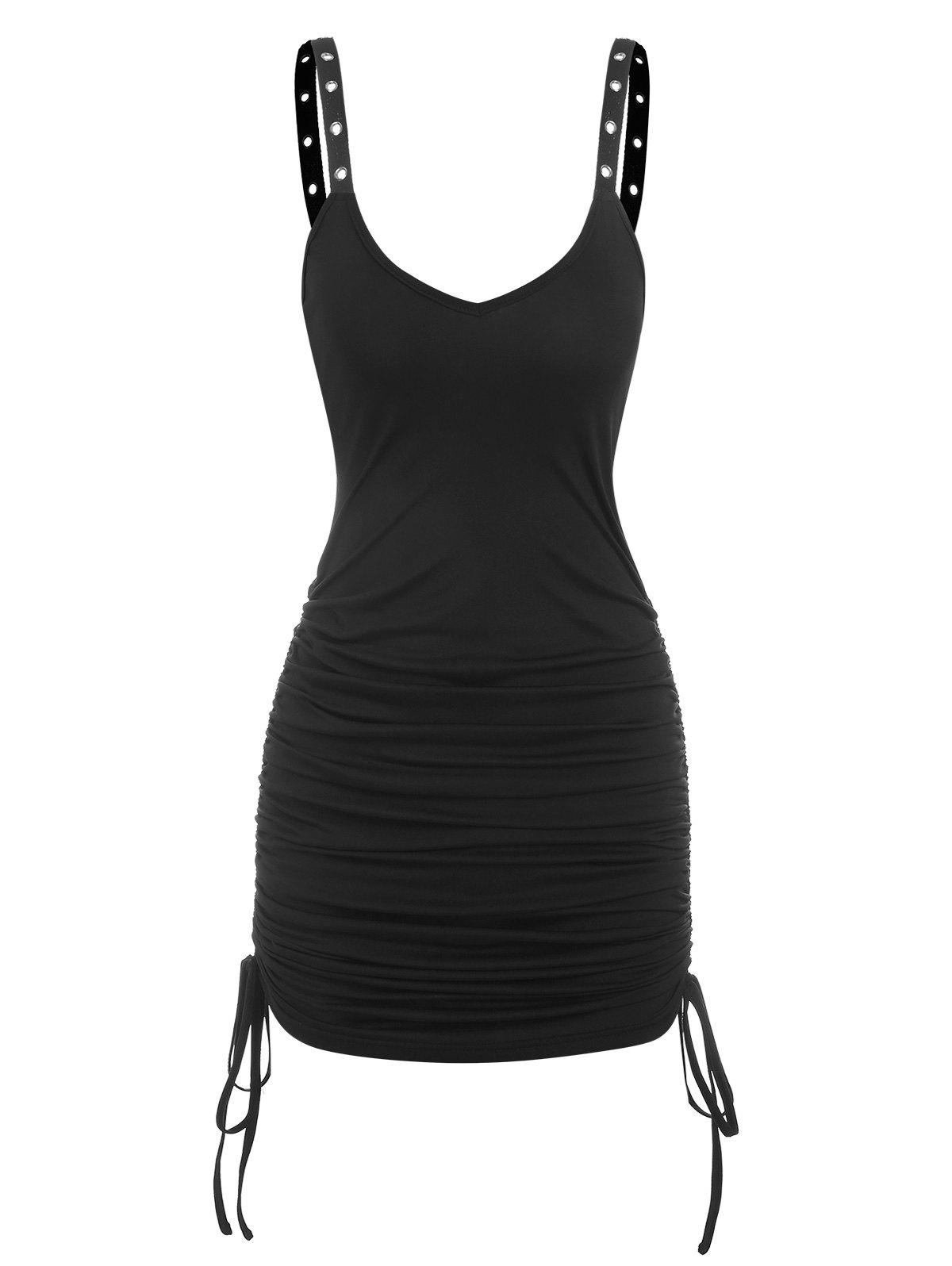 Store Gothic Eyelet Cinched Bodycon Dress