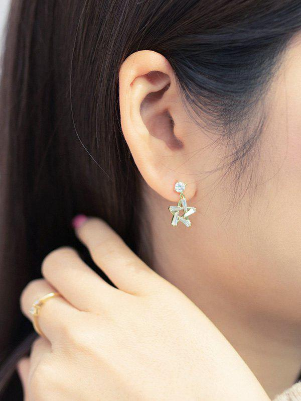 Outfit Hollow-Out Star Zircon Drop Earrings